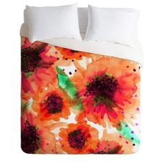 Joy Laforme Poppies In Red Duvet Cover – DENY Designs