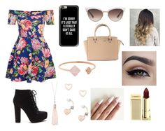 """"" by fabiola-maria on Polyvore featuring moda, New Look, Michael Kors, Casetify, Gucci, Oasis, Lipsy y Lipstick Queen"