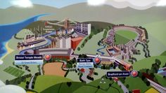 SWT train map at Salisbury showing Bristol