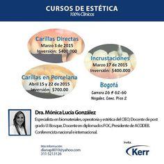 Agendate y no dejes pasar estos Cursos de estética 100% clínicos. #OdontólogosCol Mayor información http://www.odontologos.com.co/c.aspx?m=433