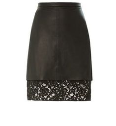 Sea Pizval lace-hem leather skirt | #Chic Only #Glamour Always