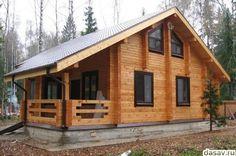 Красивые деревянные дома из бруса в лесу