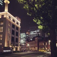#road #building #tree #night #tokyo