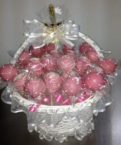 Pink First Communion Cake Pops