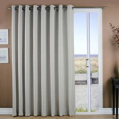 Ricardo Trading Grasscloth Lined Grommet Patio Single Curtain Panel Color:  Curtain For Sliding Glass Doors ...