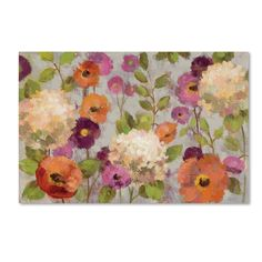 'Hydrangeas and Anemones' by Silvia Vassileva Painting Print on Wrapped Canvas