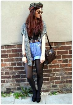 Grunge. See like this length of shorts is ok. @Florencia Carballo Lua