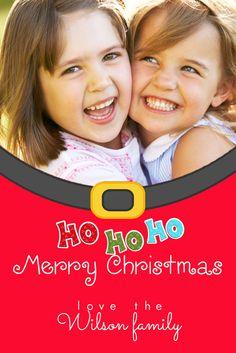 Christmas Photo Card Santa Fun