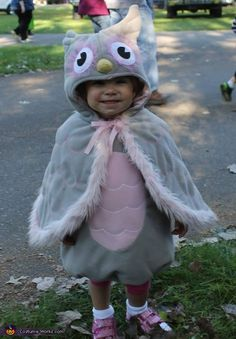 Tiffany: My precious 2 year old daughter wearing her favorite animal as a costume, an Owl!!.