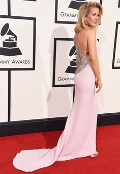 ellie goulding red carpet grammy 2016