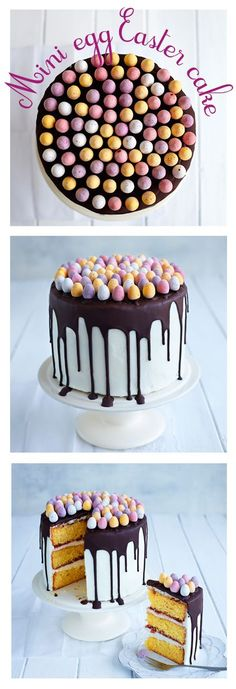 Mini egg cake recipe from @sainsburysmag. The perfect bake for Easter, get cracking!