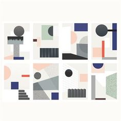 Fragments prints 8-pack - 14,8x21 cm - By May