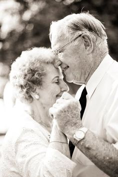 never fall out of love- just fall more in love. I want a picture of each of our parents wedding to display at ours.