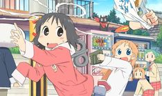 Just watch my ordinary life happiest thing ive ever seen Nichijou, Character Design References, Character Art, Kawaii Anime, Manga Anime, Anime Art, Death Parade, Kyoto Animation, Ordinary Lives