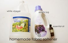 Homemade {all natural} Fabric Softener (specifies # of drops of essential oil)
