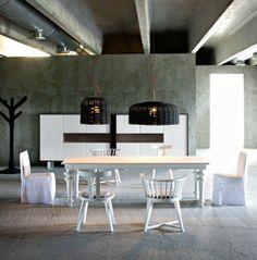 gervasoni Gray armlehnstuhl 24 und Tisch in weiß