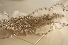 Millie Icaro Bridal Garter Set, wedding garter, heirloom garter, keepsake garter - KRISTAL