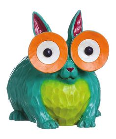 Exceptionally creepy as far as I'm concerned! Portly Peeper Rabbit Statuary #zulilyfinds