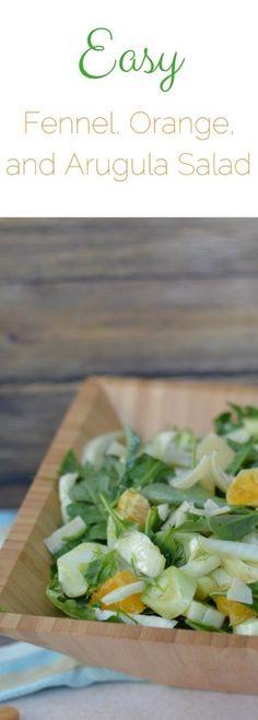Easy fresh fennel, orange and arugula salad. Vegan salad recipe. What to make with fennel. Gluten free salad recipe. Paleo salad ideas. Easy arugula salad recipe. via @fearlessdining