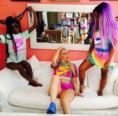 Squad Shit Squad Goals Apuletown Mermaid African Print Attire TShirt Ankara Dashiki Dope Colours Purple Hair Hairstyle Straight Nike Air