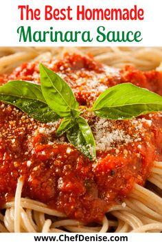 Homemade Marinara, Homemade Sauce, Maranara Sauce Recipe, Sauces For Pasta, Homemade Italian Spaghetti Sauce, Homemade Pasta Sauce Easy, Italian Sauces, Easy Pasta Sauce, Sauces