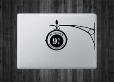 Platform 9 Harry Potter Inspired Vinyl Decal by VickiesVinyl Macbook Keyboard Decal, Mac Stickers, Mac Decals, Macbook Decal Stickers, Laptop Decal, Vinyl Decals, Mac Laptop, Laptop Skin, Mac Book