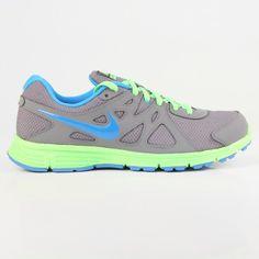 Nike - Nike Revolution 2 Running Shoes (Cool Grey | Flash Lime | Blue)