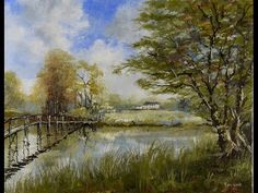 Footbridge, De Vesci Estate - Time Lapse Painting - YouTube