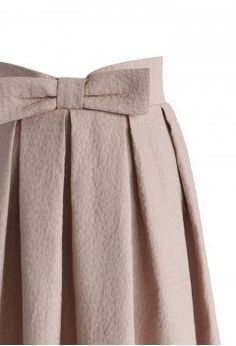 Sweet Your Heart Bowknot Pleated Midi Skirt in Pink - Bottoms - Retro, Indie and Unique Fashion