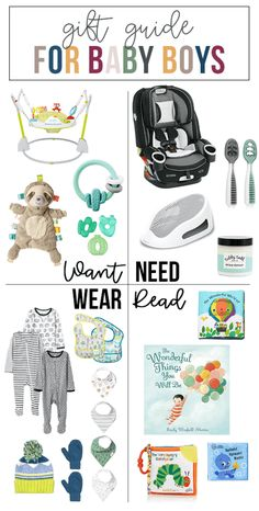 Want, Need, Wear, Read: The Gift Guide for Baby Boys