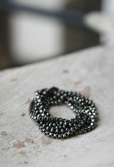 Men's Russian chain ring by Macha Jewelry