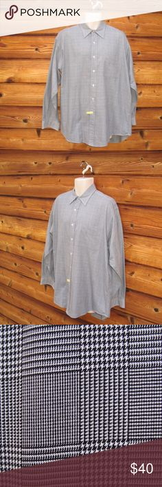 """Men's Polo Ralph Lauren Herringbone Shirt EUC Men's Polo Ralph Lauren Herringbone Button Front Shirt EUC  Details: Polo Ralph Lauren Lowell Color: Black/White Herringbone Size: Large Excellent condition. Only been dry cleaned 100% Cotton  Measurements: Length: 32"""" Chest 54"""" Waist: 52"""" Polo by Ralph Lauren Shirts Dress Shirts"""