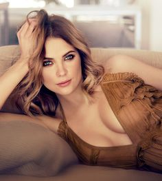 Ashley Benson charms on the January 2016 cover of Ocean Drive Magazine. Photographed by Randall Slavin, the 'Pretty Little Liars' star models a ruffle adorned… Beautiful Celebrities, Beautiful Actresses, Beautiful Women, Pretty Little Dress, Little Dresses, Pll, Victoria, Fantasy Fashion, Pretty Little Liars Seasons