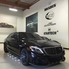 "Instagram media by brabususa - For Sale - 2015 BRABUS B50 with complete aerodynamic package, Monoblock F 21"" Forged Wheels, and 540 hp engine tuning!  #brabus #s550 #540hp #mercedes #benz"