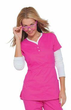 Flamingo, Justine Top   #nursing #scrubs   #pink #fashion   #nurse #uniforms