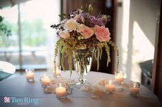 Simple and Elegant table decor, A Flower Gallery of Asheville Wedding  #Wedding #Flowers