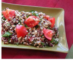 Tabbouli style quinoa and black bean salad
