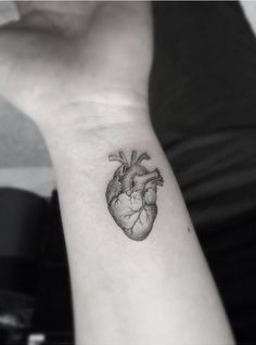Lil heart goes a long way by Dr Woo #tattoo #minimalistic #heart