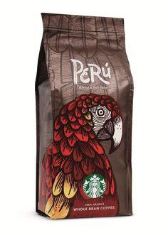 Grocery Gems: Review: Starbucks Origin Espresso Perú Rice Packaging, Food Packaging Design, Coffee Packaging, Coffee Branding, Packaging Design Inspiration, Brand Packaging, Bottle Packaging, Café Starbucks, Chocolate Packaging