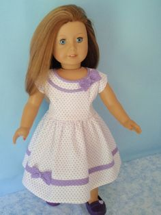 American Girl Doll Dress 1950s Style 18 Inch Doll Clothes Maryellen