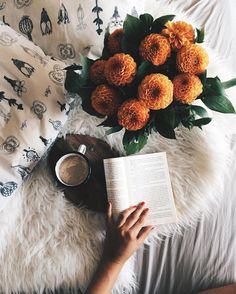 Soft textures and a good book.