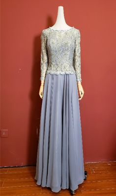 Modest Long A Line Lavender Lace Chiffon Prom Evening Dress With Long Sleeves Winter Prom Dresses, Lavender Prom Dresses, Evening Dresses, Formal Dresses, Orange Blush, Purple Grey, Lace Chiffon, Prom Dresses Online, Long A Line