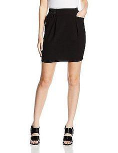 UK 12, Black - Noir (0625 Noir), Naf Naf Women's Eosa Dress NEW