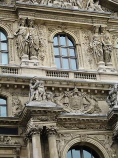 Exterior caryatids and beautiful details. Neoclassical Architecture, Baroque Architecture, Classic Architecture, Beautiful Architecture, Architecture Details, Interior Architecture, Ancient Architecture, Palais Des Tuileries, Classic Window