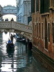 Les canaux, les ponts et les gondoles