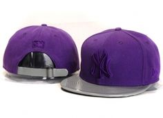 Casquette NY New York Yankees MLB Snapback Pourpre Gris Casquette New Era Pas Cher