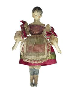 Six dolls which belonged to Princess Victoria.