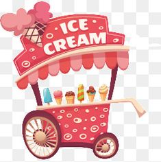 Ice cream cart vector Ice Cream Stand, Ice Cream Cart, Ice Cream Quotes, Summer Clipart, Drawing Reference Poses, Pics Art, Candyland, Easy Drawings, Decoupage