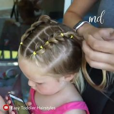 Toddler Hair Dos, Easy Toddler Hairstyles, Easy Little Girl Hairstyles, Old Hairstyles, Baby Girl Hairstyles, Braided Hairstyles, Halloween Hairstyles, Hairstyle For Baby Girl, Toddler Dance Hair