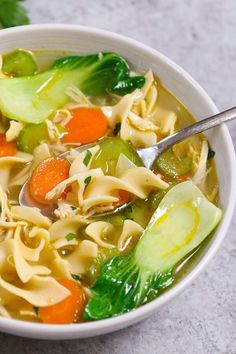 Slow Cooker Chicken Noodle Soup Healthy Crockpot Recipes, Clean Recipes, Soup Recipes, Chicken Recipes, Chili Recipes, Slow Cooker Recipes, Slow Cooker Times, Clean Meals, Best Slow Cooker